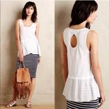 Anthropologie Tops | Anthropologie Little Yellow Button Henley Tank | Color: White | Size: Xs