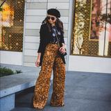 Zara Pants & Jumpsuits | Blogger Fv Zara Snakeskin Snake Print Flared Pants | Color: Black/Brown | Size: Various