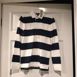 J. Crew Tops | J Crew 1984 Rugby Shirt In Stripe, Navywhite, Nwt | Color: Blue/White | Size: Xxs