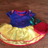 Disney Costumes | Euc Snow White Outfit With Apple Bag | Color: Blue/Yellow | Size: 18 Months