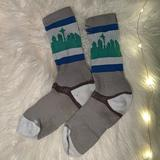 Nike Other | Grey Seattle Skyline Socks | Color: Gray/Green | Size: Woman'S 6-10