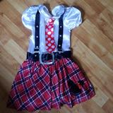 Disney Costumes | Mini Mouse Nerd Costume | Color: Black/Red | Size: 5