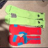 Nike Other | Nike And Addiss Elite Socks!! | Color: White/Yellow | Size: M