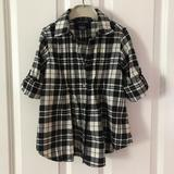 Ralph Lauren Shirts & Tops | 3$30 Ralph Lauren Plaid Shirt | Color: Black/White | Size: 4g