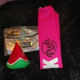 Pink Victoria's Secret Bags | 3 Pc Pink Vs Summer Bundle | Color: Black/Pink | Size: Various
