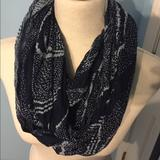 American Eagle Outfitters Accessories | American Eagle Circle Scarf | Color: Blue/Cream | Size: Os