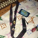 Disney Other | Disney Lanyard With Mickey & Friends Pins | Color: Blue/Red | Size: Os