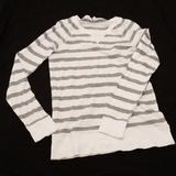 J. Crew Tops | 5|30 J Crew Long Sleeve Strip Shirt | Color: Gray/White | Size: S