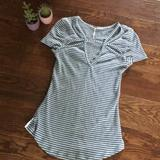 Free People Tops | Free People Cut Out Tee | Color: Blue/White | Size: S