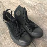 Converse Shoes | Black High-Top Converse | Color: Black | Size: 6