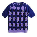 J. Crew Sweaters | New $248 J Crew Merino Wool Beaded Diamond Sweater | Color: Blue/Purple | Size: S
