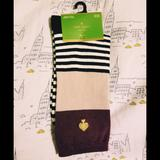 Kate Spade Other | Kate Spade Kick Up Your Heels Crew Socks Nwt | Color: Black/White | Size: Os