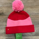 Kate Spade Accessories | *Nwt* Kate Spade Color Block Beanie | Color: Pink/Red | Size: Os