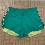 Nike Shorts | Nike Pro Dri-Fit Athletic Shorts Mesh & Spandex M | Color: Blue/Green | Size: M