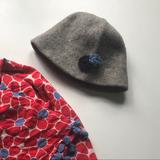 American Eagle Outfitters Accessories | American Eagle Outfitters Wool Flower Hat | Color: Blue/Gray | Size: Os