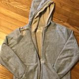 J. Crew Jackets & Coats | J Crew Sherpa- Lined Hoodie Zip Up Sweatshirt | Color: Gray | Size: M