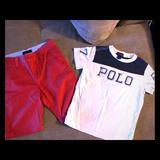 Polo By Ralph Lauren Matching Sets | Boys Nautica & Ralph Lauren Bundle Nwot | Color: Cream/Red | Size: 6b