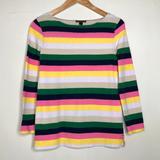 J. Crew Tops   J. Crew Boatneck T-Shirt In Vintage Stripe   Color: Green/Pink   Size: Xs
