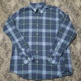 J. Crew Shirts | J Crew Mens Button Up Dress Shirt Large Flannel | Color: Blue/Green | Size: L