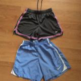 Nike Bottoms | 2 Pair Girls Nike Shorts Size Small | Color: Blue/Gray | Size: Sg