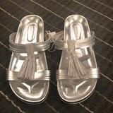 American Eagle Outfitters Shoes | American Eagle Silver Tassel Sandal | Color: Silver | Size: 11