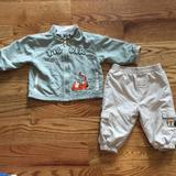 Disney Matching Sets | 69m Tigger Outfit | Color: Green/Tan | Size: 6-9mb