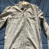 American Eagle Outfitters Shirts | American Eagle Vintage Fit Gray Dress Shirt | Color: Gray | Size: M