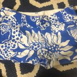 Lilly Pulitzer Shorts | Blue And White Lilly Shorts | Color: Blue | Size: 00