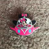 Disney Other | Disney Pin - Minnie Mouse | Color: Silver/White | Size: Os