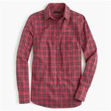 J. Crew Tops | J.Crew Red Tartan Popover Shirt | Color: Red | Size: 00