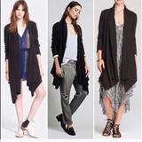 Free People Jackets & Coats | Free People Sweater Size Mxl Asymmetrical Style | Color: Black | Size: M-Xl