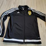 Adidas Shirts & Tops   Adidas Youth M Zip Boy Girl Sweatshirt Jacket Coat   Color: Black/Yellow   Size: Mb