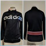 Adidas Jackets & Coats | Adidas Retro 34 Sleeve Pink Black Track Jacket | Color: Black/Pink | Size: Xs