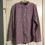American Eagle Outfitters Shirts | American Eagle Vintage Fit Xxl Striped Shirt Mens | Color: Red/White | Size: Xxl