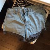 Free People Shorts   Free People Embroidered Cutoffs Size 30   Color: Red   Size: 30