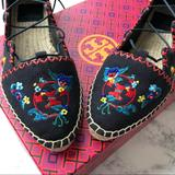 Tory Burch Shoes | New Tory Burch Sonoma Lace Flats Espadrilles 6 | Color: Blue/Red | Size: 6