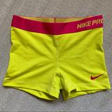 Nike Shorts   Nike Pro Neon Training Shorts Size Small   Color: Pink/Yellow   Size: S