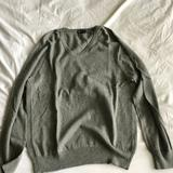 J. Crew Sweaters | J Crew Vneck Sweater Size Small Cashmere Blend | Color: Gray | Size: S