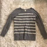 J. Crew Sweaters | Jcrew Grey And White Striped Sweater | Color: White | Size: S