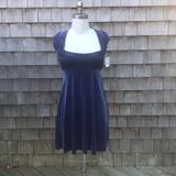 Free People Dresses | New Free People Blue Velvet Babydoll Dress | Color: Blue | Size: M