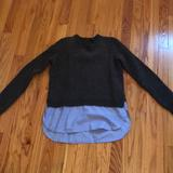 J. Crew Sweaters | Jcrew Shirttail Sweater | Color: Blue/Gray | Size: S