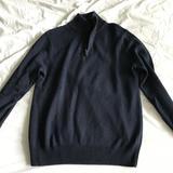 J. Crew Sweaters | Jcrew Quarter Zip Cotton Cashmere Blend Sz Small | Color: Blue | Size: S