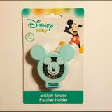 Disney Accessories | Mickey Mouse Light Blue Pacifier Holder | Color: Blue | Size: Unisex