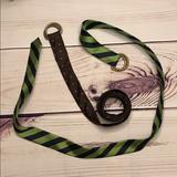 J. Crew Accessories   (2) J. Crew Cinch Tie Belts   Color: Brown/Green   Size: Os