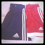 Adidas Bottoms   Adidas Boys Athletic Shorts Bundle Red Blue   Color: Blue/Red   Size: Sb