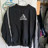 Adidas Jackets & Coats | Adidas Pullover Windbreaker | Color: Black/White | Size: L