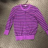 J. Crew Tops   Beautiful Jcrew Sweater   Color: Black/Purple   Size: S