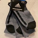 Adidas Underwear & Socks | Adidas Cushioned Crew Socks 6-12 Men'S Shoes | Color: Black/Gray | Size: Os