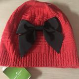 Kate Spade Accessories | Kate Spade Winter Hat | Color: Black/Red | Size: Os
