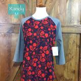 Lularoe Tops | Lularoe Randy Womens Size M Msrp $35 For $15 Bnwt | Color: Gray/Red | Size: M